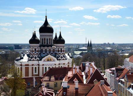 탈린, 에스토니아에서 알렉산드르 넵 스키 대성당에서보기