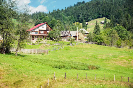 Village in Apuseni mountains in Romania