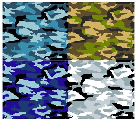 sobreviviente: Texturas Vector, serie patr�n de camuflaje. Texturas Militar. Vectores