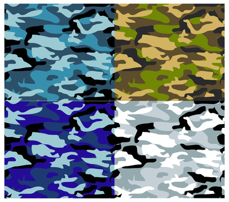 Vector textures, camouflage pattern series. Military textures. Stock Vector - 5369472