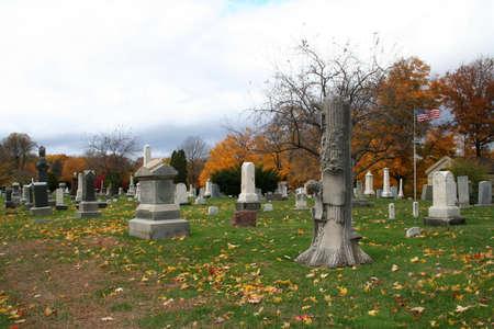 Historic cemetery, season autumn. photo