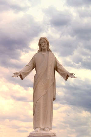 Sunset Jesus Statue