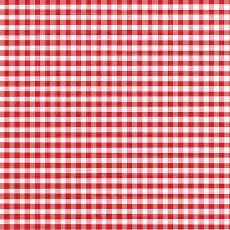 шашка: Red and White Gingham with slight fabric textrue - digitally created