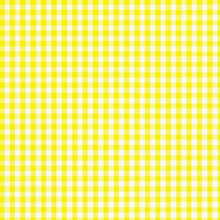 Yellow Gingham Fabric - digitally created
