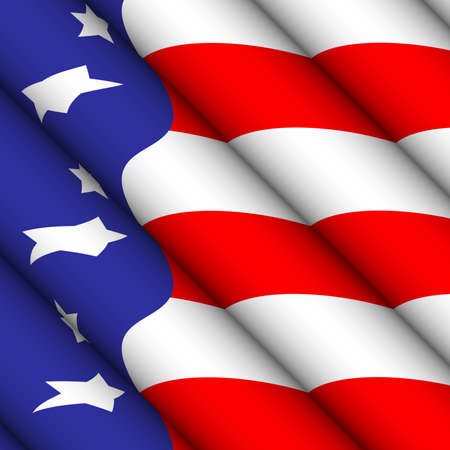 American Flag Ripple Abstract Stock Photo