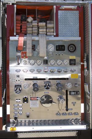 Control Panel of a Fire Truck - Gages and Dials