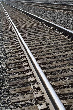 Railroad tracks angled shot - actual framing not cropped.