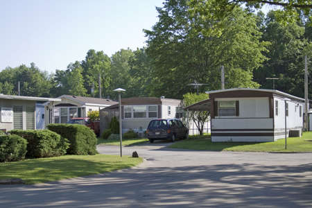 House trailer park - mobile homes in Ohio. Stock Photo