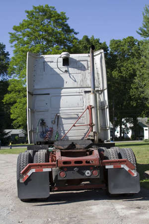 Semi Tractor Trailer cab - rear view Stock Photo - 439501