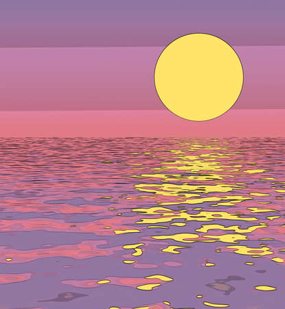 An abstract sunset illustration for backdrop and backgrounds
