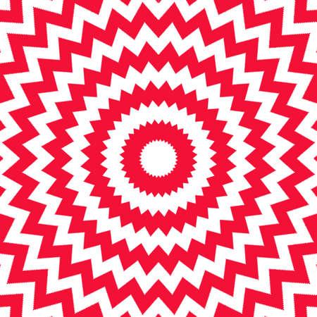 Red and white circular opp art design. photo