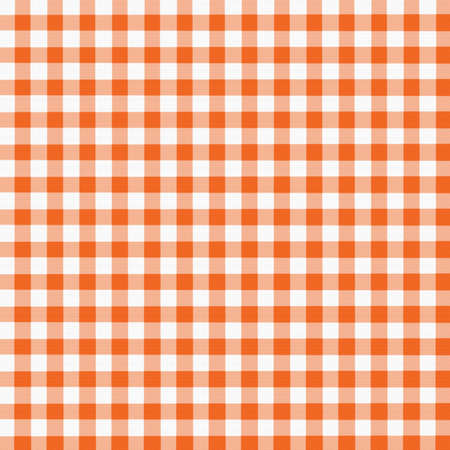 Digital Orange and White Gingham with fabric texture.