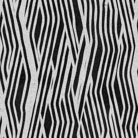 A seamless tile - black and white fur pattern - illustration - computer generated Imagens