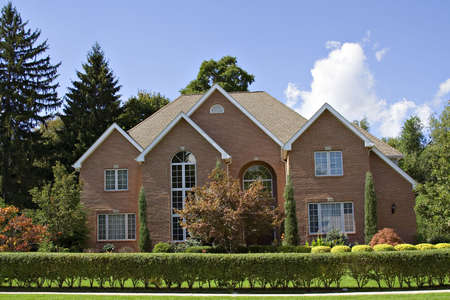 A beautiful brick family home in the suburbs of Cleveland, Ohio. Stock Photo - 547087