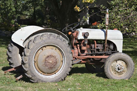 An old farm tractor. photo
