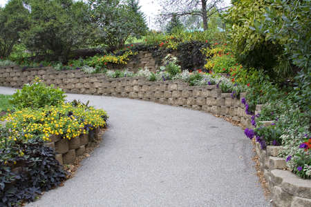 A walkway at the Cleveland Zoo. Stock Photo
