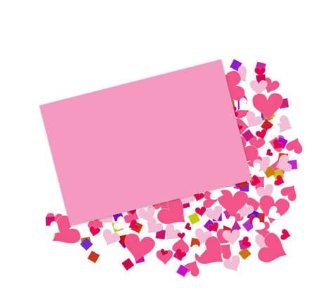 correspond: An envelope - decorative confetti.  Add your own text and embellishments. Stock Photo