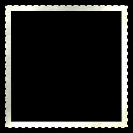 festonati: Una difficolt� di antiquariato deckled bordo per foto e istantanee. Isolato su fondo nero.