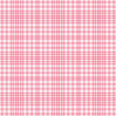 pinks: Digitally created reds, pinks, white seamless plaid fabric background