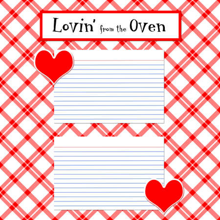 cover: A Recipe layout page digitally created Stock Photo