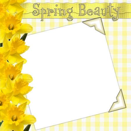 zastąpić: A wiosny układ - wybierz białym polu i zastąpić własnym zdjęciem.