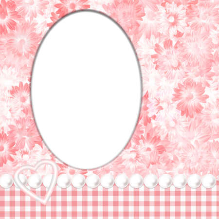 Feminine oval frame layout page photo