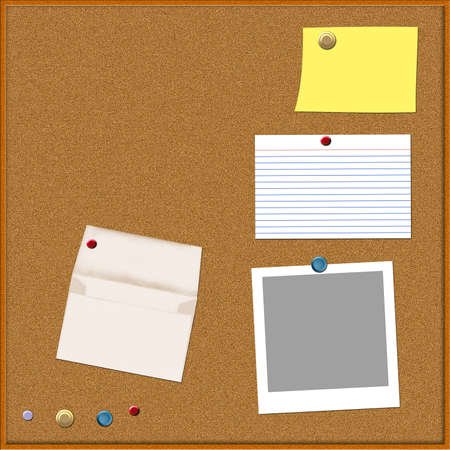 A corkboard illustration - all elements by Denise Kappa Stock Illustration - 754180