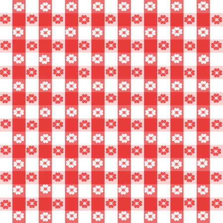 A digital illustration of tradtional picnic tablecloth fabric.  All elements and brushes made by Denise Kappa