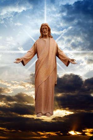 resurrecci�n: Jes�s Cristo como visi�n o resurrecci�n en pascua domingo.
