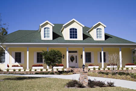 An Amercan residential home in the south. Stock Photo - 789626