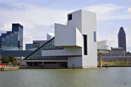 A view of the Rock Hall of fame - Cleveland, Ohio