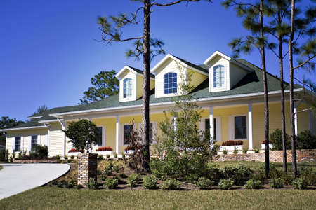 A Lomo-style photo of an American southern home. Stock Photo - 835465