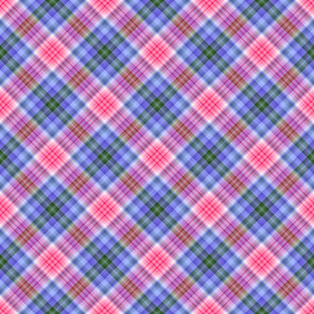 SEAMLESS diagonal plaid - Colors inspired by spring hydrangea.