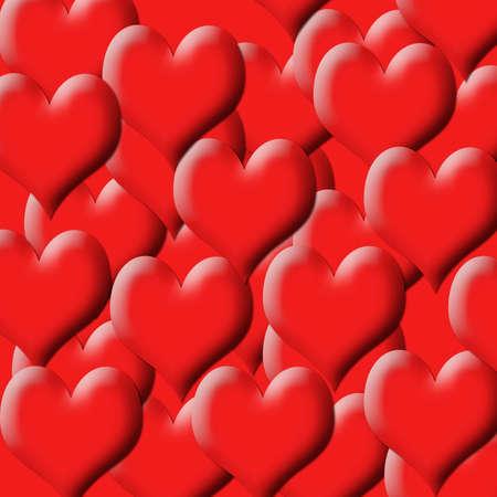digitally created heart background