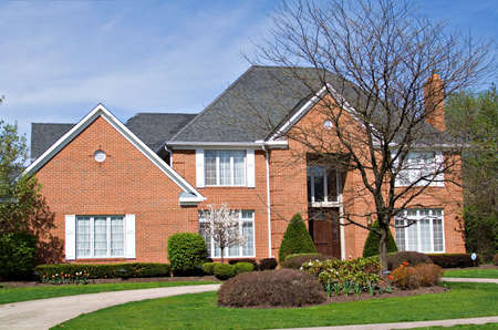 A beautiful American home on a spring day. Stock Photo - 900564