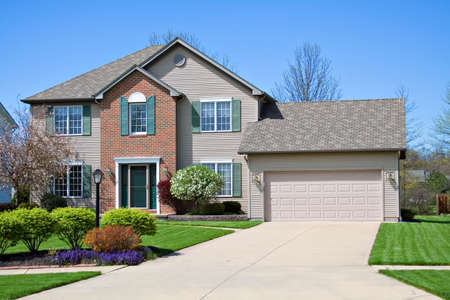 A neat home in the suburbs. Stock Photo - 906162