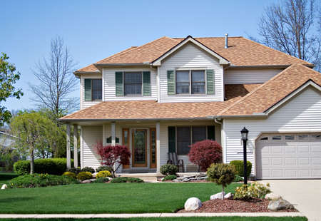 A beautiful home in the suburbs of Ohio Stock Photo