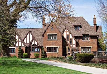 tudor: An old tudor mansion along the shore of Lake Erie in Ohio