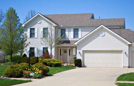 A neat house in an Ohio neighborhood.