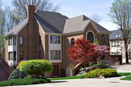 northeast ohio: A beautiful home in northeast Ohio suburb. Stock Photo