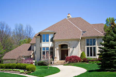 prestigious: Beautiful brick American home located in a prestigious suburb of Ohio.
