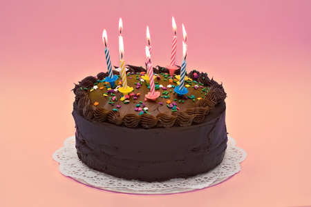 A party cake celebrating an anniversary or birthday. Stock Photo - 965417