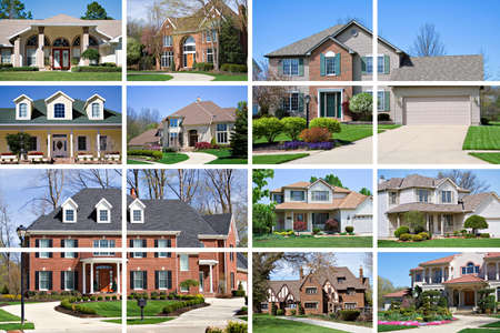 A collage of 10 beautiful homes of various styles and price range.