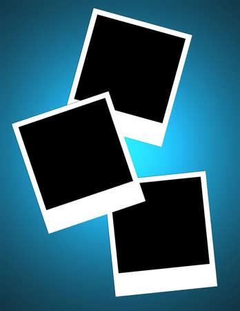 Un layout con tre cornici. Selezionare e cambiare sfondo a vostra scelta di colore o il motivo. Archivio Fotografico - 1676587