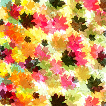 Textured coloful fall leaf  background - brush made by Denise Kappa