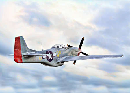 A fighter plane from World War 2.   Stock Photo