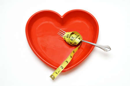 Heart Health concept - healthy eating and weightloss.