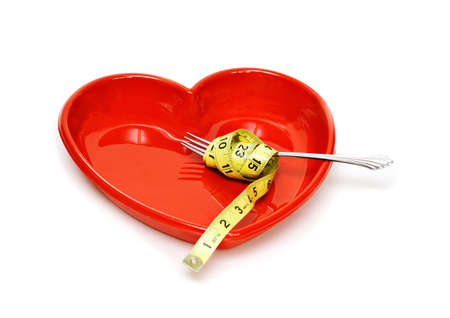twirled: Heart Health concept - healthy eating and weight loss.