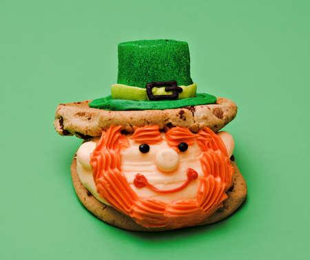 st  pattys: A leprechaun cookie dessert made form St. Pattys Day.