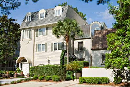 Condominium located in Harbour Town, in Hilton Head Island, South Carolina.  Stock Photo